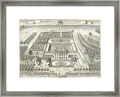 View Of Squerries Framed Print by British Library