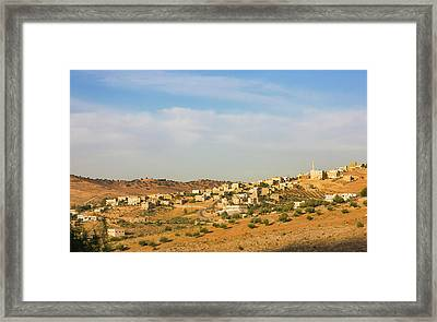 View Of Suburban Area Of Amman, Jordan Framed Print by Keren Su