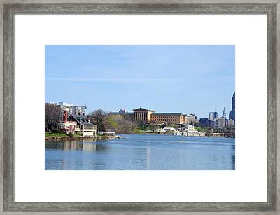 View Of The Art Museum And Waterworks In Philadelphia Framed Print by Bill Cannon