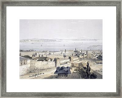 View Of The Bosphorus From The Mosque Framed Print by Gaspard Fossati