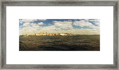 View Of The Bosphorus Strait, Istanbul Framed Print by Panoramic Images