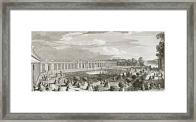 View Of The Chateau De Trianon Framed Print by Jacques Rigaud