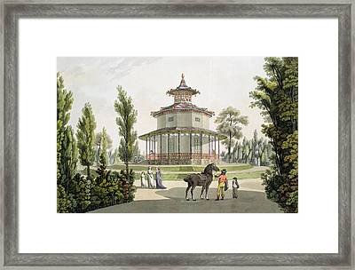 View Of The Chinese Summer House Framed Print by Laurenz Janscha