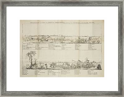 View Of The City Of Calcutta Framed Print by British Library