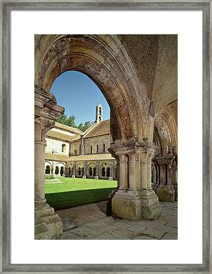 View Of The Cloister Photo Framed Print by French School