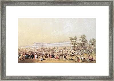 View Of The Crystal Palace Framed Print by George Baxter