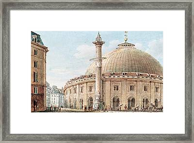 View Of The Grain Market And The Astronomical Column, Paris Framed Print by Victor Jean Nicolle