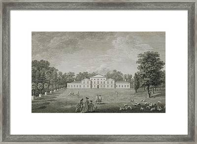 View Of The Palace At Kew Framed Print by John Joshua Kirby