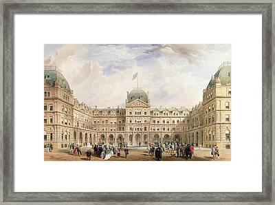 View Of The Quadrangle Of The New Framed Print by Thomas Wyatt Wyatt