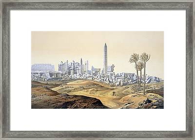 View Of The Ruins Of The Hypostyle Hall Framed Print by .