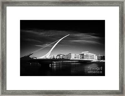 View Of The Samuel Beckett Bridge Over The River Liffey Dublin Republic Of Ireland Framed Print by Joe Fox