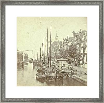 View Of The Singel In Amsterdam, The Netherlands Framed Print by Artokoloro