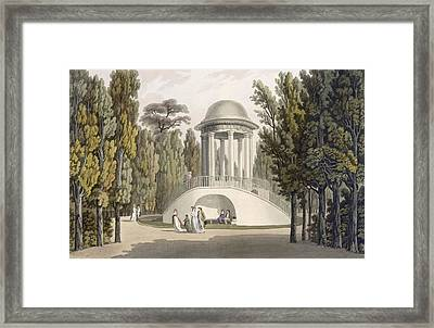 View Of The Temple Of Diana At Eisgrub Framed Print by Laurenz Janscha