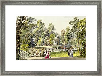 View Of The Temple Of Diana At Erlaw Framed Print by Laurenz Janscha