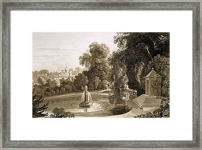 View Of The Temple Of Suryah Framed Print by John Martin