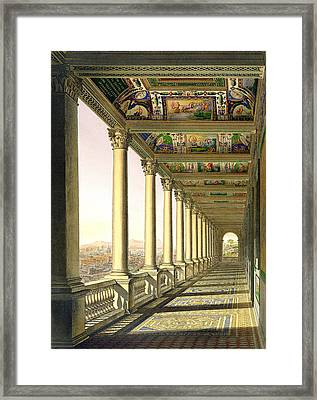 View Of The Third Floor Loggia Framed Print by Italian School