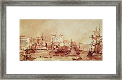 View Of The Tower Of London Framed Print by William Parrott