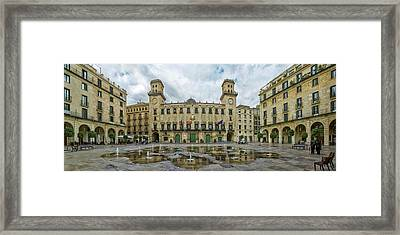 View Of The Town Hall Square, Alicante Framed Print by Panoramic Images