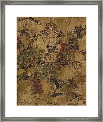View Of The Vineyard Framed Print by Chris Brandley