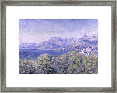 View Of Ventimiglia, 1884 Framed Print by Claude Monet