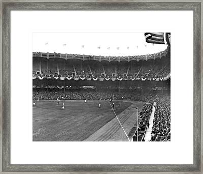 View Of Yankee Stadium Framed Print by Underwood Archives