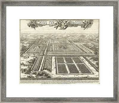 View Of Zorgvliet Park In The Hague, The Netherlands Framed Print by Johannes Jacobsz Van Den Aveele And Johannes Covens And Cornelis Mortier