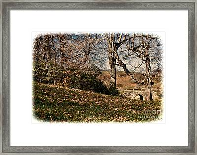 View Off The Blue Ridge Parkay Framed Print by Sandra Clark