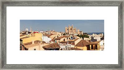 View Over The Old Town Of Palma Framed Print by Panoramic Images