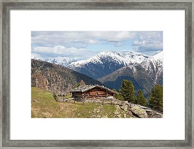 View Over The  Ulten Valley (ultental Framed Print by Martin Zwick