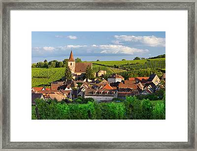 View Over Town Of Hunawihr Framed Print by Brian Jannsen