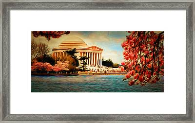 View Through Cherry Blossoms Framed Print by Anthony Caruso