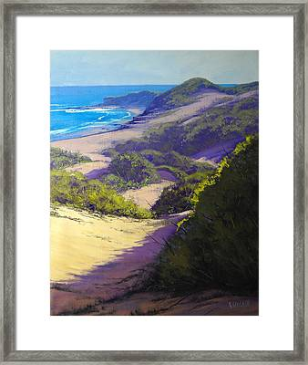 View To Soldiers Beach Framed Print by Graham Gercken