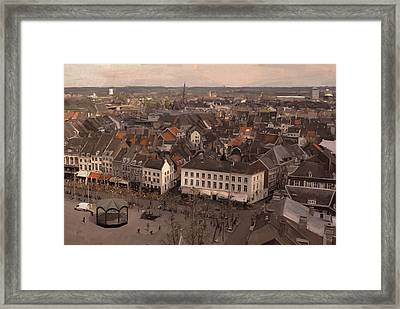 View To The East In Maastricht Framed Print by Nop Briex