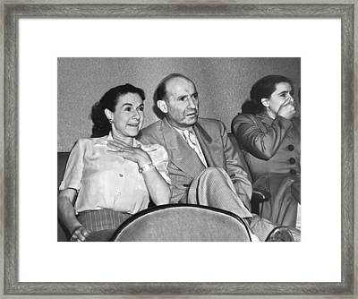 Viewers Watching the Thing Framed Print by Underwood Archives