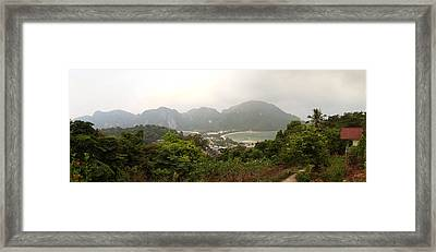 Viewpoint - Phi Phi Island - 01131 Framed Print by DC Photographer