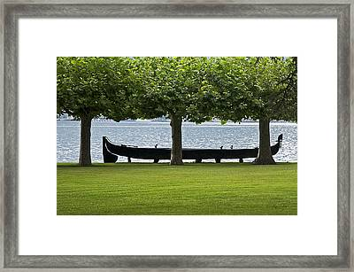 Viking Boat Framed Print by Cheri Randolph
