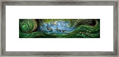Viking Raiders Framed Print by Luis  Navarro