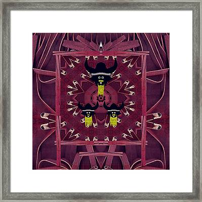 Vikings  And Leather Pop Art Framed Print by Pepita Selles