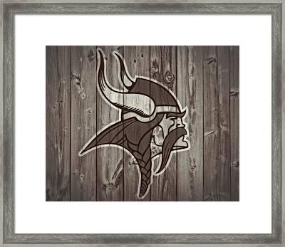 Vikings Barn Door Framed Print by Dan Sproul
