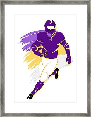 Vikings Shadow Player2 Framed Print by Joe Hamilton