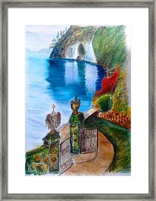 Villa At Varenna Como Lake Framed Print by Fabio Spinsanti