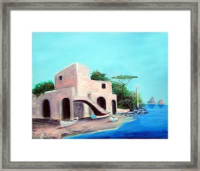 Villa Capri Framed Print by Larry Cirigliano