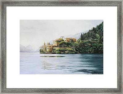 Villa Del Balbianello - Lake Como Framed Print by Gulay Berryman