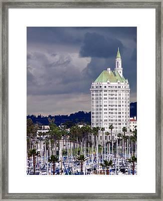 Villa Riviera Long Beach Framed Print by Jeff Lowe