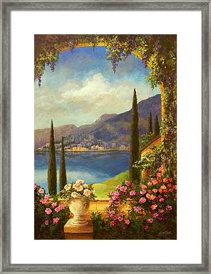 Villa Rosa Framed Print by Evie Cook