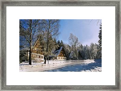 Village Framed Print by Aged Pixel