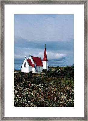 Village Church Framed Print by Kathleen Struckle