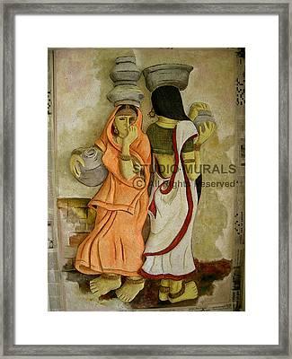 Village Framed Print by Milind Badve