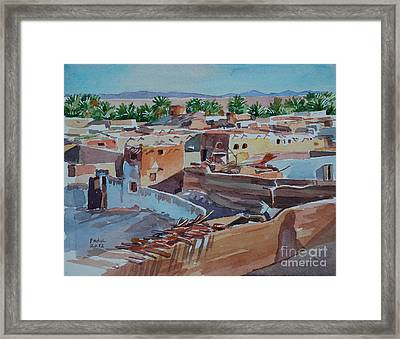 Village Framed Print by Mohamed Fadul