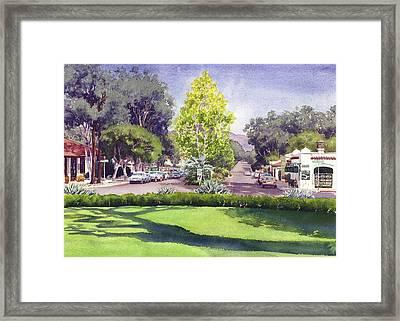 Village Of Rancho Santa Fe Framed Print by Mary Helmreich